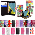 Printed Leather Wallet Flip Magnetic Stand Case Cover For Vodafone Mobile Phones