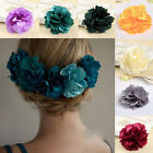 2 pcs/lot Flower Hair Clip Women Hairpin Party Brooch Barrette Pink Purple