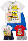 Boys Nickelodeon Short Sleeved Spongebob Squarepants Pyjama Set Ages 4-12 Years