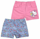 Girls Official Hello Kitty Summer Shorts New Kids Blue Pink Shorts 3 4 6 8 Years