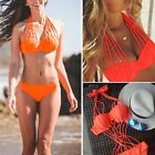 Sexy Women Bandage Strappy Push Up Padded Bra Bikini Set One Piece Monokini FO