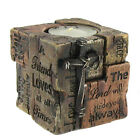 Brown Rustic Faux Wood Word of God Cross Tea Light Cup Candle Holder Friend Lord