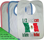 1/2 HALF Mexican is better than nothing BIB Portugal nationality flag Mexico