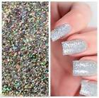 10g Bag Holographic Diamond Silver Mermaid Glitter - Fine Nail Art Gel Acrylic