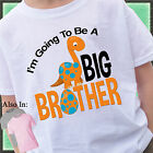 ORANGE DINOSAUR I'M GOING TO BE A BIG BROTHER SHIRT PERSONALIZED DINO EGG TSHIRT