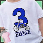 BLUE DIRTBIKE BIRTHDAY SHIRT PERSONALIZED NAME AGE DIRT BIKE OFFROADING