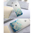 Soft Flexible Shell Printed Blue Mountain Cover Protection Case for iPhone 6 Plu