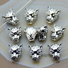 10pcs Solid Metal Animal Bracelet Necklace Connector Charm Beads Silver Gold
