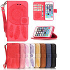 Leather Embossing Pattern Magnetic Stand Cover Case for iPhone 5 5S 7 6S 6 Plus