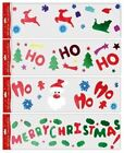 LARGE CHRISTMAS XMAS WINDOW GLASS MIRROR GEL STICKERS DECORATION REUSABLE