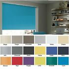 ROLLER BLINDS - straight edge - UNICOLOUR FABRIC made to your exact size.