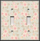 Light Switch Plate Cover - Pink And Tan Roses Victorian Decor/Shabby Chic Decor