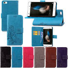 For Huawei Ascend P8 Lite / Mini With Starp Case Leather Embossed+Soft TPU Cover