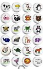 CERAMIC BEADS DISC choose from 23 different ANIMAL ZOO FARM JUNGLE free shipping