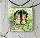 BEATRIX POTTER MISS POTTER PENDANT NECKLACE OR EARRINGS -dbg4Z