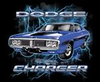 DODGE PLYMOUTH BLUE CHARGER ON A T-SHIRT AMERICAN MUSCLE CAR S HEMI HOT ROD RAT