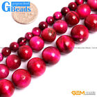 "Pink Tiger's Eye Gemstone Round Beads For Jewelry Making Free Shipping 15""Strand"