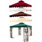 New MTN 10'x10' Gazebo Canopy 2 Tier with Scallop Top Cover Replacement-choose
