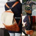 NEW Womens 2 in1  Bag Canvas Satchel Girls' Backpack Shoulder School Bag DI