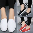 Korean Fashion Women Casual Flat Shoes Solid Loafers Slip On Flats Round Toe