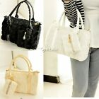 Lady Women Faux Fur Leather Handbag Shoulder Messenger Bag Cross Body Tote DZ88
