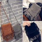 Women Leather Tassel Shoulder Bag Messenger Handbag Crossbody Tote Purse DZ88