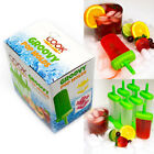 CookArt Ice Pop Popsicle Mold Frozen Lolly Mould Makers BPA Free Cream Tray Set