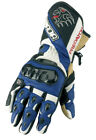 SPADA PREDATOR MOTORCYCLE SPORTS RACE LEATHER GLOVES BLACK/BLUE - SALE - NEW