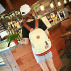 Women Girl Cute Cat Ear Backpack School Shoulder Bag Canvas Rucksack Bookbag