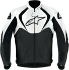 Alpinestars Men's Black/White Jaws Leather Jacket