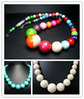 """8-18,8-20,6-22MM Beautiful Turquoise Round Beads Necklace 20"""""""
