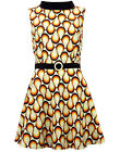 NEW RETRO 60s SIXTIES SUMMER MINI DRESS SLEEVELESS RETRO 70s Seventies MC259 A3E