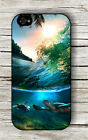 TURTLE IN TROPICAL SEA ISLAND CASE FOR iPHONE 4 , 5 , 5c , 6 -f3t5b
