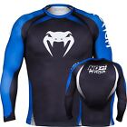 Venum No Gi Rash Guard - Long Sleeve - Black & Blue - IBJJF Jiu Jitsu Grappling