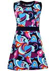 NEW RETRO MOD SIXTIES 60s PAISLEY MINI DRESS psychedelic 70s BONNIE MC225 Z1D