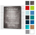 Buddha Wall Picture Quote 'WHAT You Think..Wall Art Decor Canvas Print A4/A3