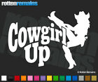 """Cowgirl Up Decal 6""""x4.2"""" Rodeo Girl Country Western Vinyl Car Truck Sticker SCD"""