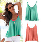 Sexy Womens lady Sleeveless Vest Tank Tops Ladies Summer Casual Shirt Blouse