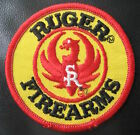 RUGER FIREARMS EMBROIDERED SEW ON PATCH SPORT RIFFLE GUNS AMMUNITION YELLOW 3""
