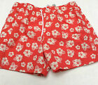 Mens M & S  BNWT Red & beige hibiscus swimming shorts size xx large