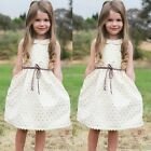 Toddler Kids Baby Girls Dress Sleeveless Princess Party Pageant Summer K0E1