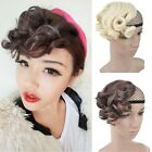 Fashion Colors Bang Hair Extension Curly Wavy Hair Womens Daily Wear Hairpieces