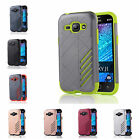 For Samsung Galaxy J1 (2015) J100F Hard Case Bicolour Armor Rubber Plastic Cover