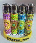#126 Classic Clipper Lighter Trippy Hippy Pattern 70'S 80'S  Print Single/set