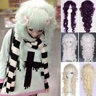 Lolita Harajuku Multi-Colors Long Anime Wig Curly Wavy Hair Anime Cosplay Party