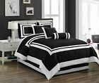 Chezmoi Collection 7 Piece Hotel style Comforter Set Full Queen King Cal King