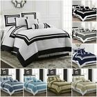 black comforter sets queen - Chezmoi Collection 7 Piece Hotel style Comforter Set Full, Queen, King, Cal King