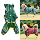 Cute Puppy Dog Hoody Jacket Pet Cat Glisten Strip Rain Coat Clothes Waterproof