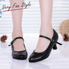 New Fashion Modern Black Ladies Women's  Ballroom Character Dance Heeled Shoes