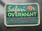 ACADEMY OF NATURAL SCIENCES SAFARI OVERNIGHT EMBROIDERED SEW ON PATCH PHILA